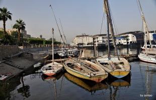 Feluken im Hafen