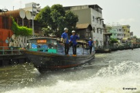 Die Wassertaxis das beste Transportmittel