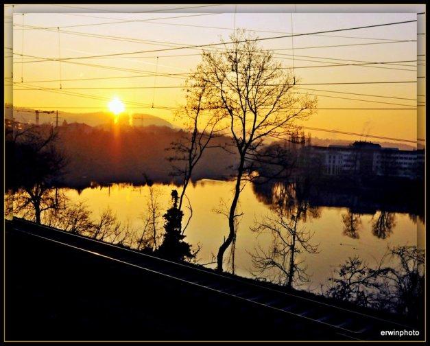 Sonnenaufgang über der Limmat