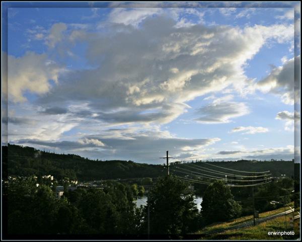 Wolken kommen und gehen