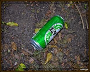 Aludosen gehören in den Abfall