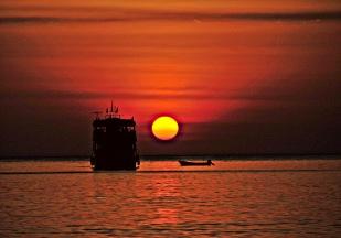 Sonnenuntergan Kglong Phrao Strand