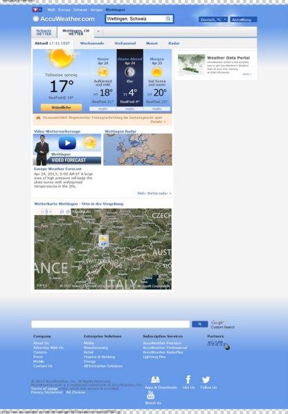 Wettingen Wetter - AccuWeather-Vorhersage für Aargau Schweiz  DE