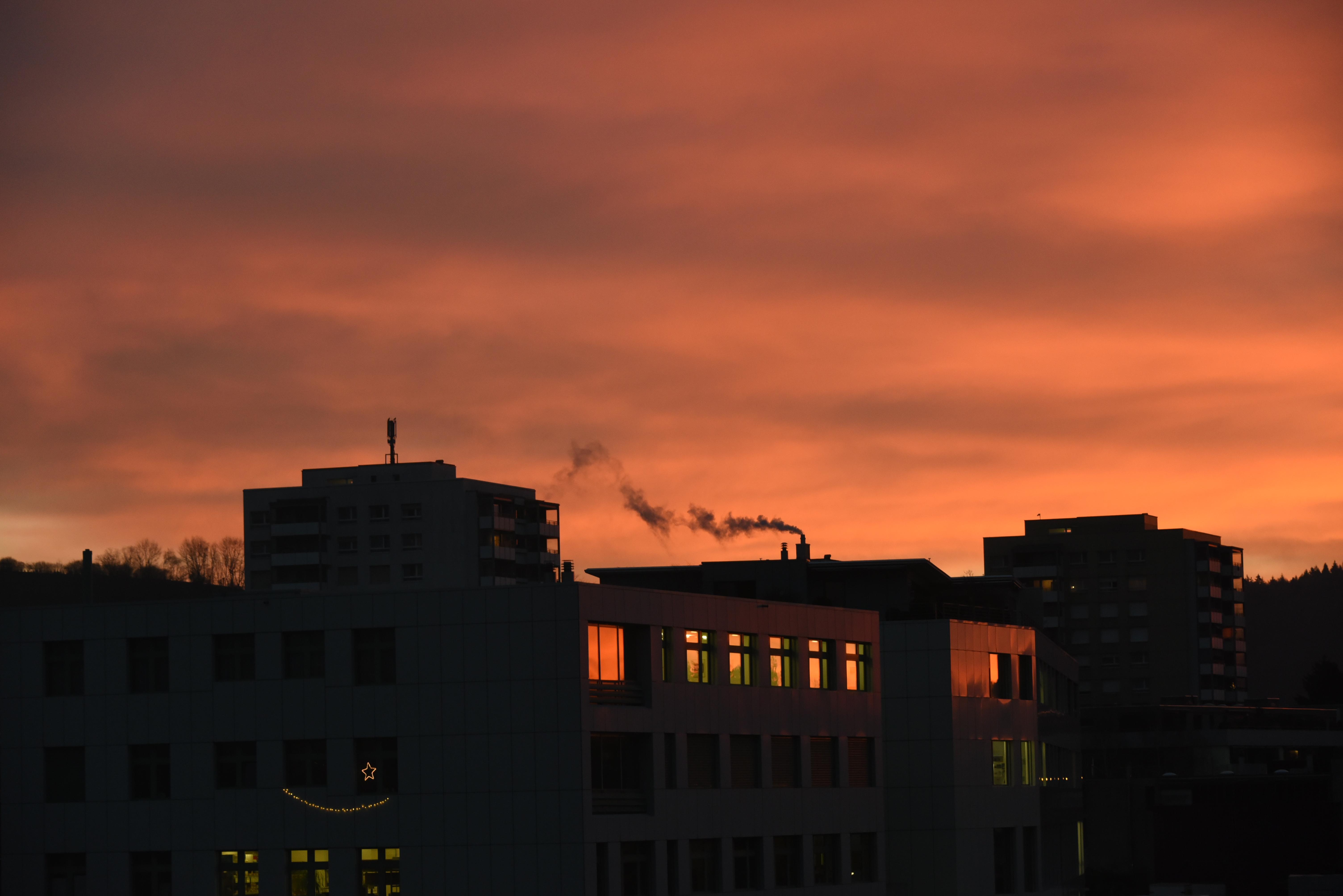 die Schönheit des Sonnenuntergangs