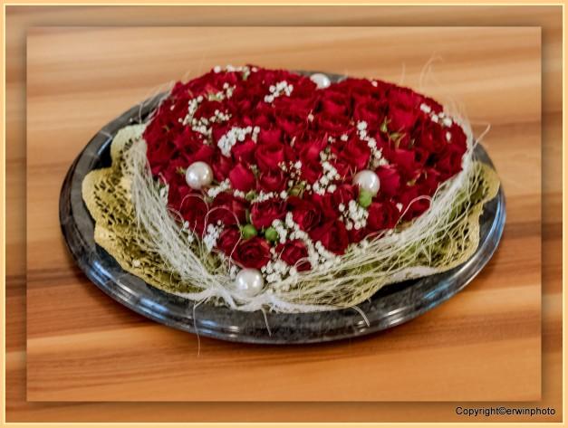 ein Herz aus Rosen