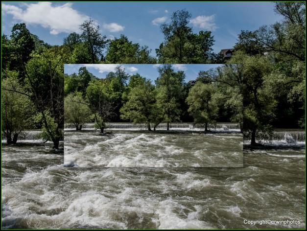 Hochwasser an der Limmat