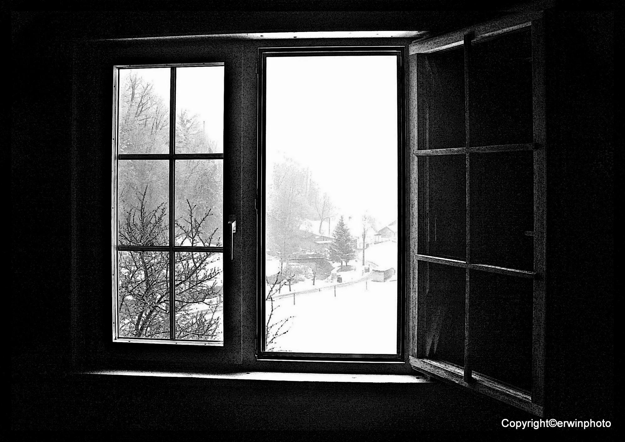 Blick aus dem Fenster ...