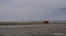 Gegenfahrbahn auf der Autobahn