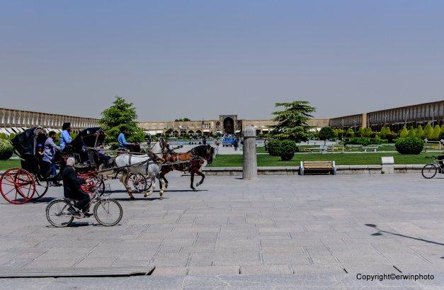 der Park des Ali Quapu Komplexes