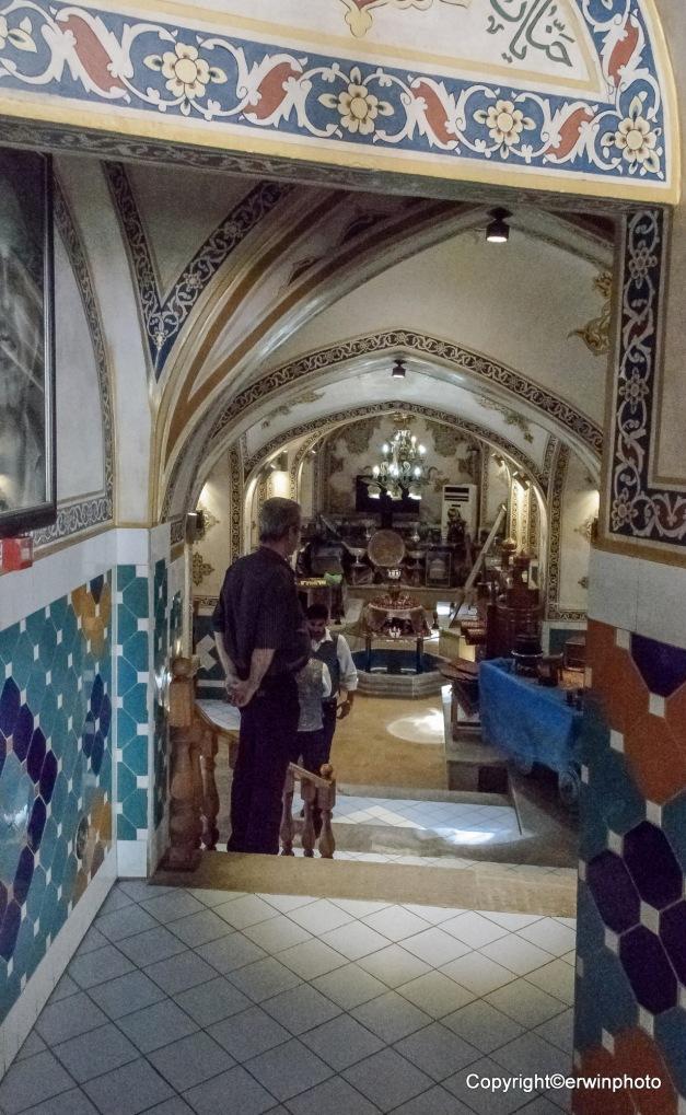 Eingang zum Restaurant im ehemaligen Hamam