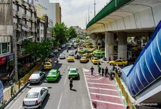 der Verkehr in Teheran