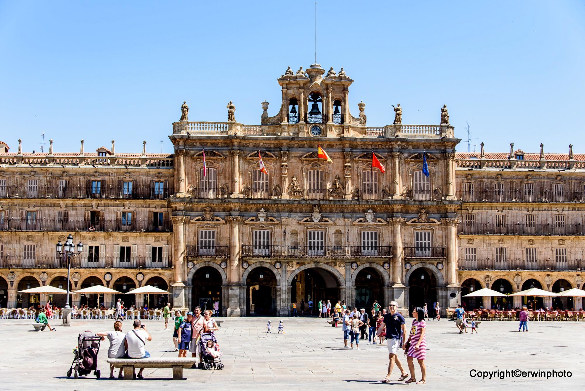 der historische Hauptplatz von Salamanca