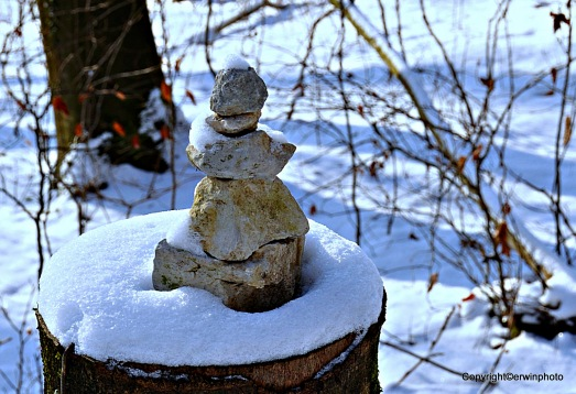 kleiner Stein - Buddha