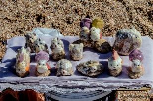 kleine Kunstwerke aus Muscheln