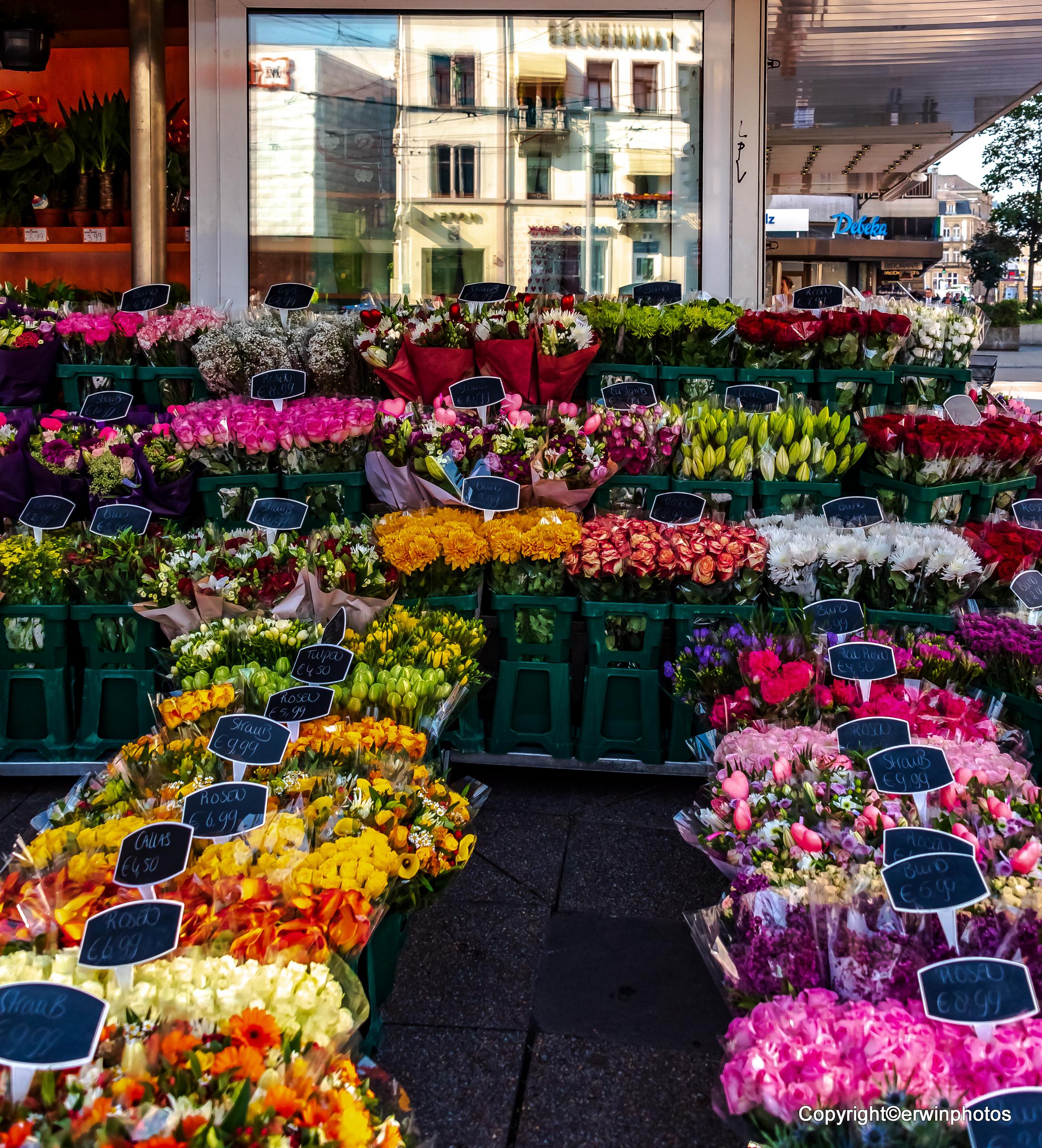 Blumen für den Muttertag Heidelberg am Bismarkplatz