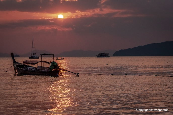 Sundown an der Ao Nang Beach
