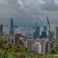 Blick vom Peak auf Honhkong