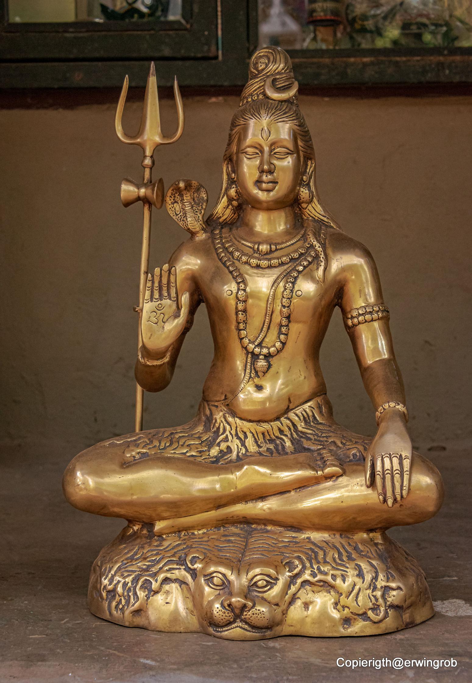 Shiva Statue in der Hotelhalle
